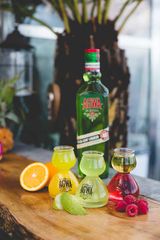 AGWA fruit bomb cocktails